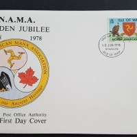 1978 FDC Isle of Man NAMA Golden Jubilee