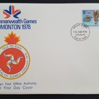 1978 FDCIsle of Man XI Commonwealth Games Edmonton