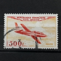 1954 Airmail France 500f