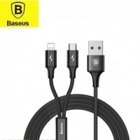 Apple & Micro USB 2in1 USB Lade & Datakabel schwarz 1,2m