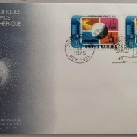1975 FDC NU NY Peaceful Uses of Outer Space