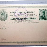 1885, Reply Paid Postcard 10/10c
