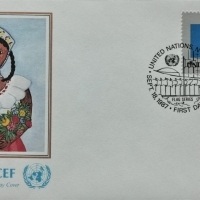 1987 FDC United Nations NY St. Lucia